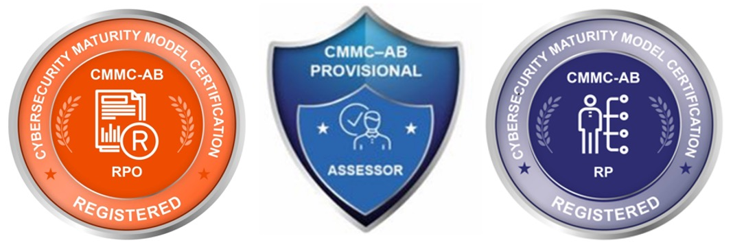 Cybersecurity, Compliance and Assessment logos